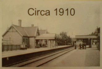 Nocton and Dunston railway station - Image: Nocton Dunston Railway Station 1910