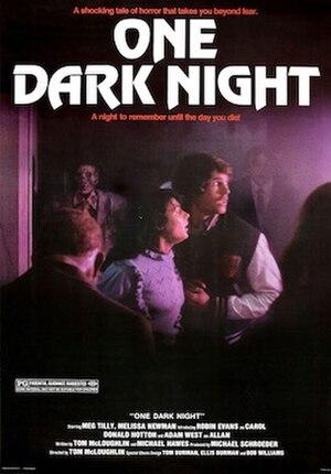 One Dark Night - Original theatrical poster