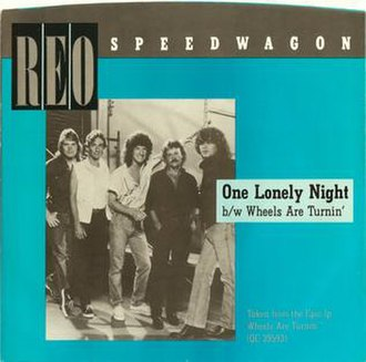 One Lonely Night (song) - Image: One Lonely Night REO Speedwagon single cover