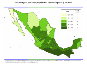 Poverty In Mexico Wikipedia - Us map of deep poverty