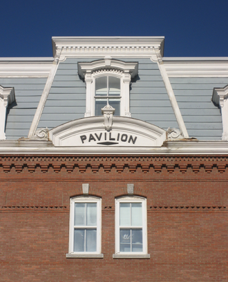 Governor of Vermont - Detail of The Pavilion in Montpelier, location of the Governor of Vermont's working offices