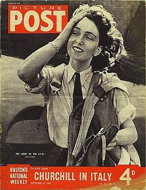 Maureen Dunlop de Popp - First Officer Maureen Dunlop exits her Fairey Barracuda, Picture Post cover, 16 September 1944