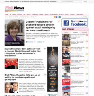 PinkNews - Image: Pink News Screenshot 15th April 2012
