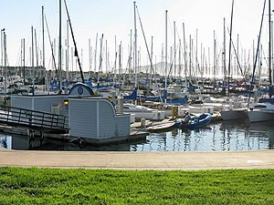 "Marina Bay, Richmond, California - ""D Dock"", one of four docking sections in Richmond Marina Bay Yacht Harbor"