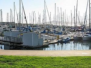 "Marina Bay, Richmond, California - ""D Dock"", one of four docking sections in Richmond Marina Bay Yacht Harbor"