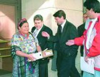 Center for Justice and Accountability - Rigoberta Menchú Tum, Nobel laureate and private prosecutor in the Guatemalan genocide case in Spain