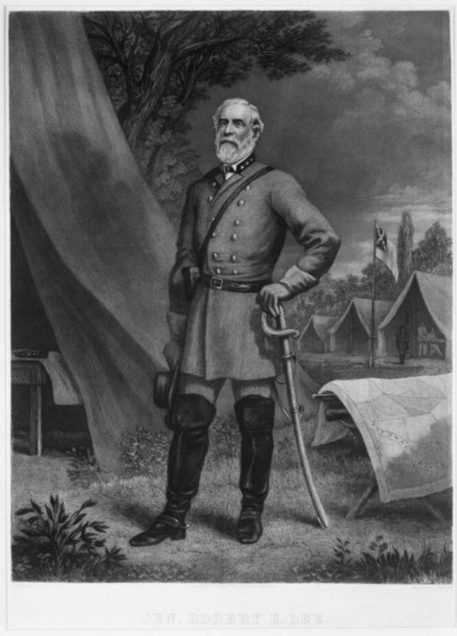 Robert E. Lee in camp
