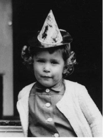 Pauline Robinson Bush - Robin Bush sitting on porch steps in Greenwich, Connecticut, in June 1953.