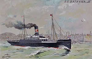 SS Batavier II, as she appeared from 1897–1909