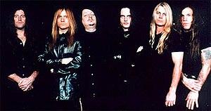 Savatage - The Poets and Madmen touring lineup, 2001. (LtR: Jeff Plate, Chris Caffery, Jon Oliva, Damond Jiniya, Johnny Lee Middleton, Jack Frost)