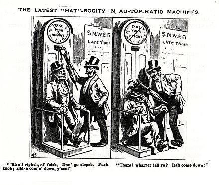 Scraps magazine caricature of the height machine Scraps caricature of Stanley invention.jpg