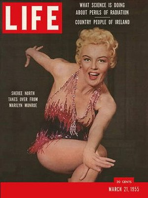 Sheree North - Sheree North on the cover of Life magazine (March 21, 1955)