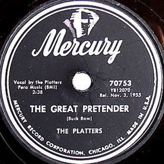 The Great Pretender - Image: The Great Pretender Single 1955
