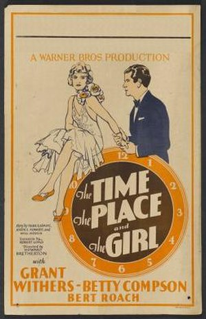 The Time, the Place and the Girl (1929 film) - Image: The Time, the Place and the Girl Film Poster