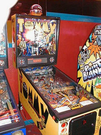 The Who's Tommy Pinball Wizard - A photograph of the pinball machine via WakefieldPinball