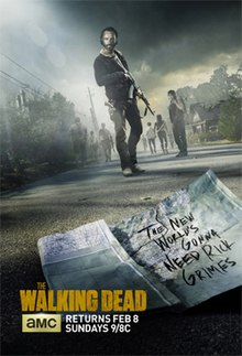 View The Walking Dead - Season 5 (2014) TV Series poster on Ganool123