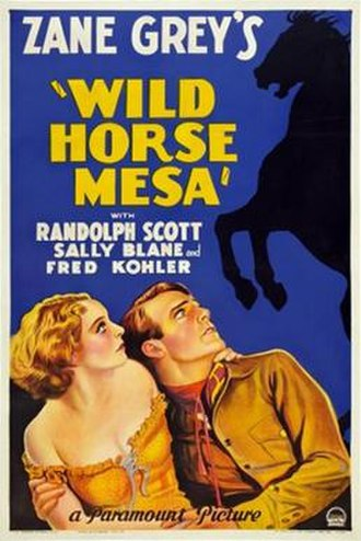 Wild Horse Mesa (1932 film) - Image: Wild Horse Mesa 1932 Poster