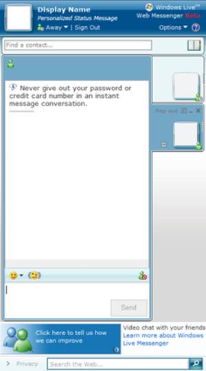 Windows Live Web Messenger - Image: Windows Live Web Messenger