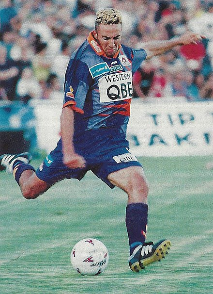 Doug Ithier playing for Perth Glory in 1997 1997-02-01 Doug Soccer Perth Glory portrait.jpg