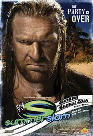 SummerSlam (2007) - Promotional poster featuring Triple H