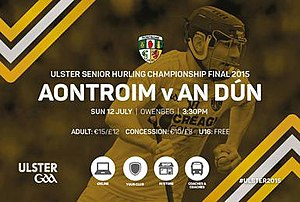 2015 Ulster Senior Hurling Championship - Advertisement for the Ulster final