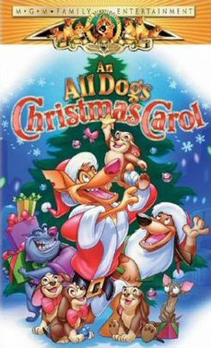 An All Dogs Christmas Carol - VHS cover