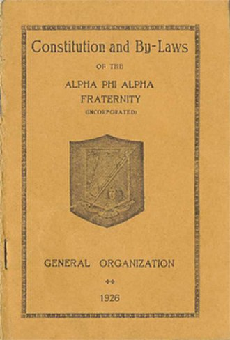 Alpha Phi Alpha - The 1907 ΑΦΑ Constitution and Bylaws