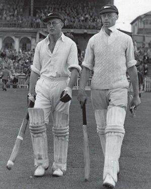 Mac Anderson - Mac Anderson (left) and Walter Hadlee, Wellington 1946