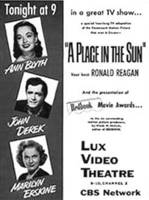 Lux Video Theatre - 1954 production of A Place in the Sun on the series