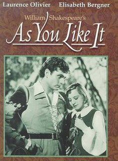 <i>As You Like It</i> (1936 film) 1936 British film directed by Paul Czinner