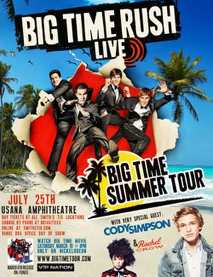 Big Time Summer Tour - Image: BTR BT Summer Tour Poster