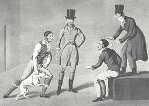 "Badger-baiting - ""A Match at the Badger"" by Henry Alken circa 1820"