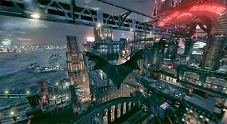 Batman: Arkham Knight - Batman: Arkham Knight lets the player glide Batman all throughout the city using his cape.
