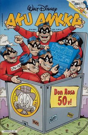 The Beagle Boys vs. the Money Bin - Cover for the Finnish publication of the story