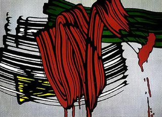 <i>Big Painting No. 6</i> painting by Roy Lichtenstein