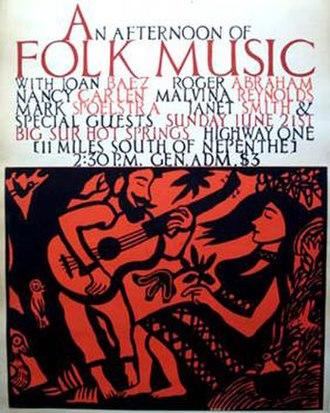 Big Sur Folk Festival - Poster for the initial festival in 1964 by Bob Muson