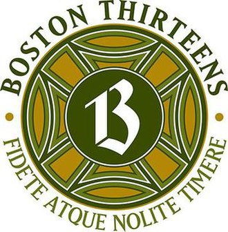 Boston Thirteens - Image: Boston 13s 2010