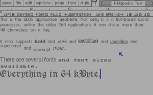 GEOS (8-bit operating system) - geoWrite screenshot