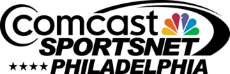 NBC Sports Philadelphia - Comcast SportsNet Philadelphia logo from September 2012 through 2016