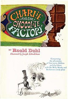 <i>Charlie and the Chocolate Factory</i> 1964 childrens novel by Roald Dahl