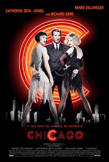 <i>Chicago</i> (2002 film) 2002 Musical film directed by Rob Marshall adapted from the satirical stage musical of the same name