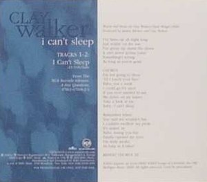 I Can't Sleep (song) - Image: Claywalker 361715