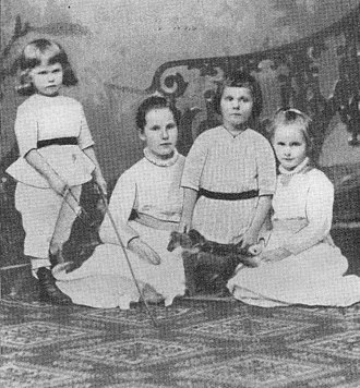 Clemens August Graf von Galen - Clemens August (third from left) at age six.