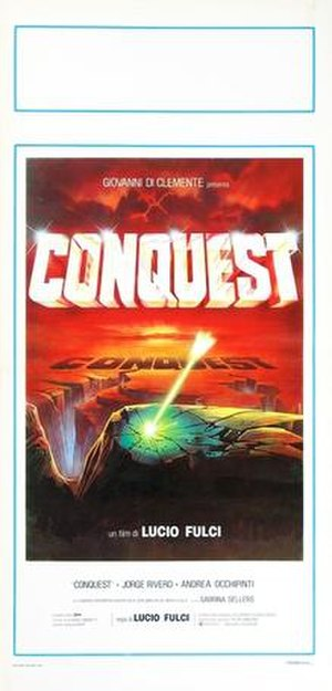 Conquest (1983 film) - Italian theatrical release poster by Enzo Sciotti