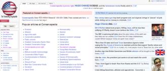 Conservapedia - Image: Conservapedia main Page 6 March 2013