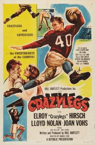 Elroy Hirsch - Poster for the 1953 film Crazylegs