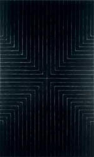 Minimalism (visual arts) - Frank Stella, Die Fahne Hoch!, 1959, Whitney Museum of American Art