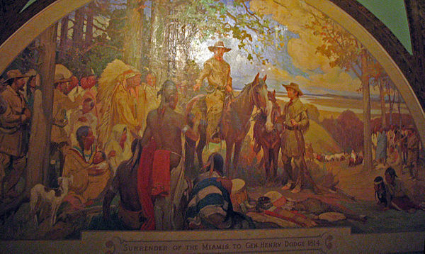 Dodge and the Miamis from a mural in the Missouri State Capitol Dodge-miamis.jpg