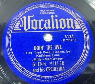 Doin' the Jive - Image: Doinjive 2