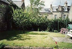 Duns - Gone forever: part of the last mediaeval gardens in the heart of Duns, at 5 - 7 South Street, bought by the British Red Cross in June 1994 and completely developed for housing.